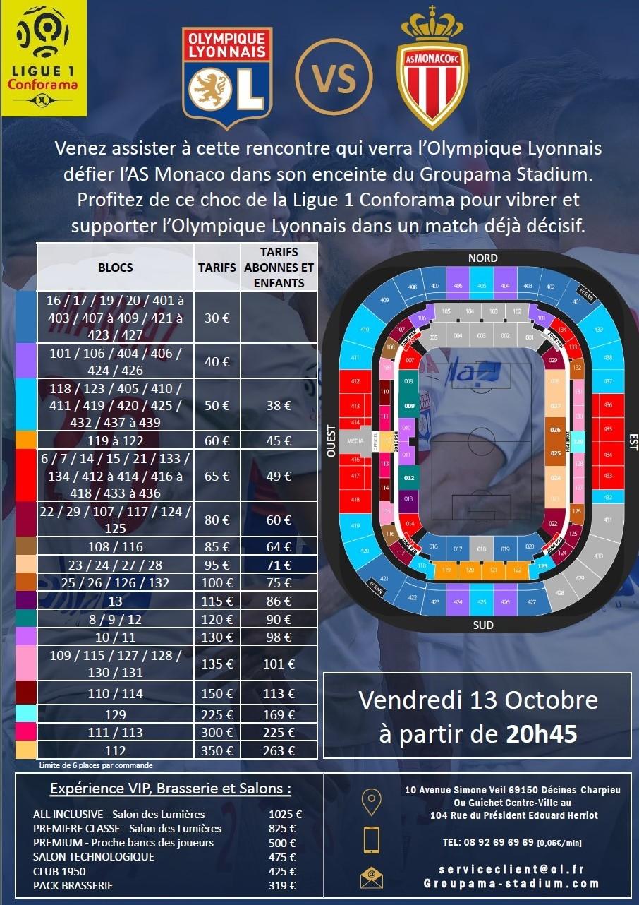 Ligue 1 ol monaco for Tarif parking salon de l agriculture