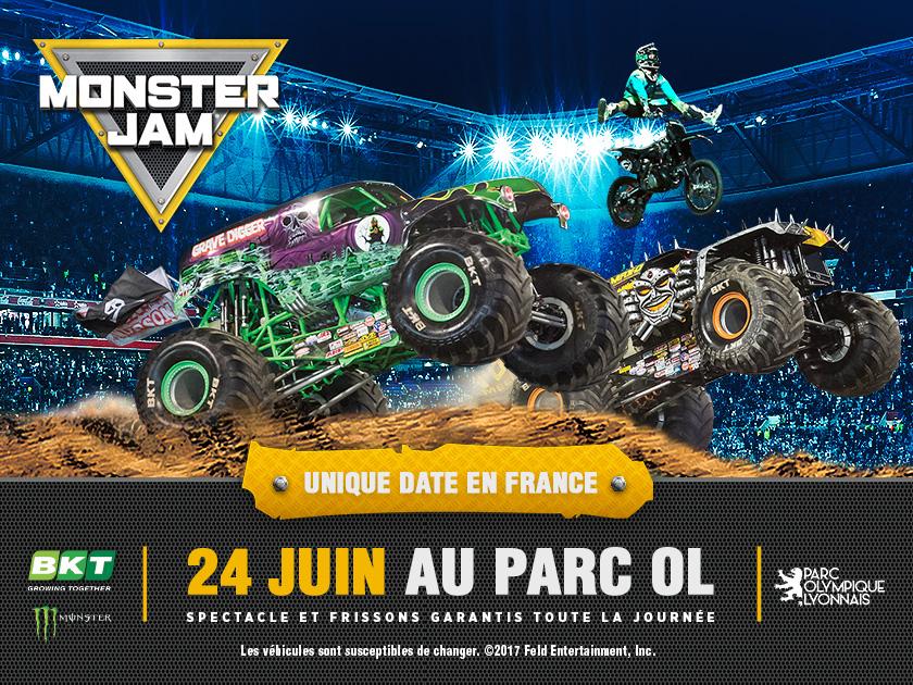 Calendrier Spectacle Monster Truck France 2021 Monster Jam au Parc Olympique Lyonnais   Lyon