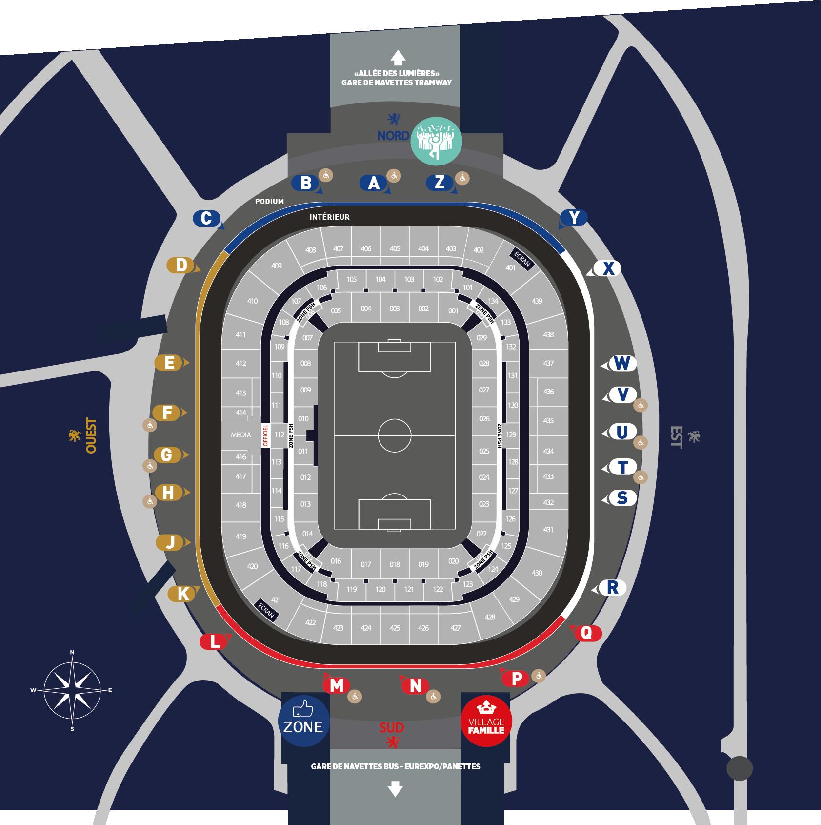 Map Fan Zones